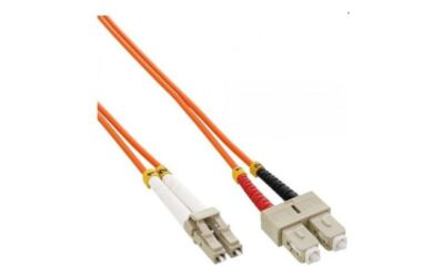 Fiberpatchkabel LC-SC OM2 5,0m, 50/125, multimode, Duplex, Orange, 2mm, LSZH ...