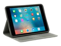 Griffin Survivor Journey Folio - Flipomslag til tablet - polyurethan, veganerlæder, termoplastisk polyuretan (TPU) - space grey - for Apple iPad mini; iPad mini 2; 3