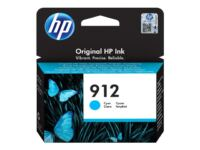 HP 912 - 2.93 ml - cyan - original - blækpatron - for Officejet 80XX; Officej...